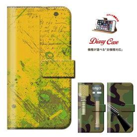 iPhone8 plus iphone7ケース メール便 送料無料 迷彩 メイサイ 自然 緑 迷彩柄 デザイン 携帯ケース PLADE Xperia Z5 iPhone6s 6 Disney Mobile Nexus 6手帳型 スマホケース 全機種対応 DIGNO M KYL22 手榴弾 拳銃 マシンガン