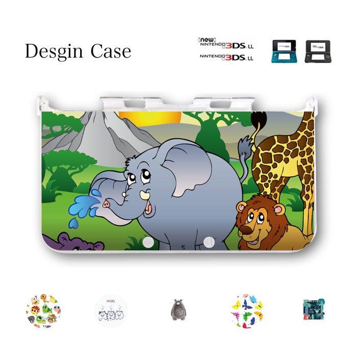 ニンテンドー3DSケース 任天堂3DSケース 3DSカバー 3DSLL NEW3DS LL ケース カバー 動物 猫 犬