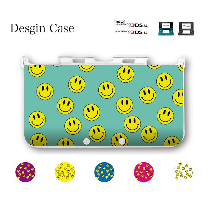 3DS カバー DSカバー DSケース 3DSLL NEW ニンテンドー DS game 可愛い 送料無料 DSケース nintendo ds 3ds case ケース にこちゃん ニコちゃん マーク ニコニコ スマイル