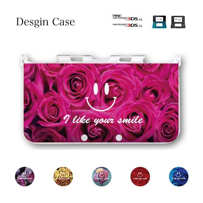 3DS カバー アート flower フラワー 花柄 バラ バラの花 薔薇 ニンテンドー DS game 可愛い 送料無料 DSケース nintendo ds 3ds case ケース にこちゃん ニコちゃん マーク