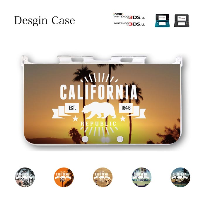 3DS カバー ニンテンドー DS game 可愛い california west coast westside送料無料 DSケース nintendo ds 3ds case ケース 西海岸 cali