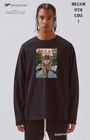 ロングスリーブ ロンT ストリート street dream nyc like i ニューヨーク ファッション ブランド ロゴ ロングTシャツ 長袖 ビックシルエット 大きいサイズあり big size ビックサイズ