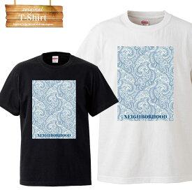 NHC NEIGHBORHOOD blue ペイズリー ペイズリー柄 バンダナ 柄 アメリカ hiphop ヒップホップ ストリート street brand ピクチャー logo 写真 フォト フォトT Tシャツ プリント デザイン 洋服