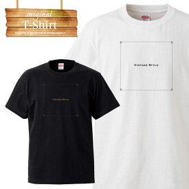 オリジナル ヴィンテージ orijinal vintage style ワンポイント ロゴ 写真 フォト フォトT Tシャツ プリント デザイン 洋服 t-shirt 白 黒 ホワイト ブラック