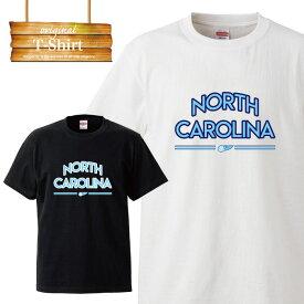 ノースカロライナ North Carolina crips バスケ カレッジ Tシャツ street アメリカ 星条旗 ストリート hiphop B系 イラスト ロゴ logo デザイン Tシャツ ジョーダン ブルー T-shirt ティーシャツ 半袖 大きいサイズあり big size ビックサイズ