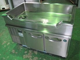 2016年製 【ホシザキ】【業務用】【中古】 舟型シンク付冷蔵コールドテーブル RW-120SDC**** 単相100V 自社6ヶ月保証