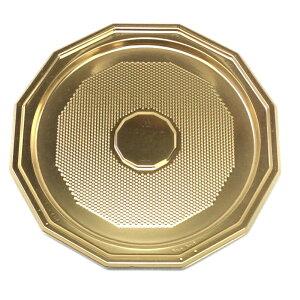 12角金トレー 6号 (100枚)(和気)デコレーションケーキ用八角プラスチック金トレー