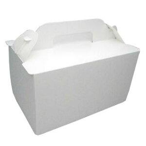ケーキ箱 105OPLプレス 5×7(200枚) 150×210×105mm 光沢ホワイト 手提げサイドオープン式 パッケージ中澤