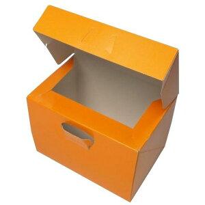 ケーキ箱 ロックBOX105 ネーブル 3.5×5(300枚)105mm×150mm×105mm高 ロックボックス パッケージ中澤