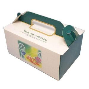ケーキ箱 OPL ハピータイム 4×6(400枚) 120×180×90mm ショートケーキ用 手提げサイドオープン式 パッケージ中澤 【本州/四国/九州は送料無料】