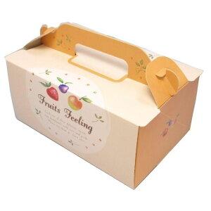 ケーキ箱 OPL フルーツ 3×4(500枚) 90×120×90mm ショートケーキ用 手提げサイドオープン式 パッケージ中澤