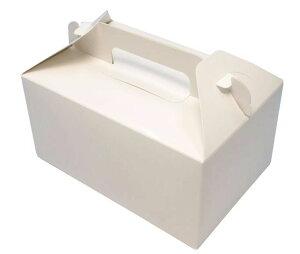 ケーキ箱 HBホワイトP 6×8(300枚)180×240×90mm 洋菓子 トップオープン式 パッケージ中澤