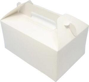 ケーキ箱 HB白ム地 5×7(400枚) 150×210×90mm 洋生菓子 トップオープン式 サービス箱 パッケージ中澤