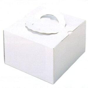 デコ箱 H140 TSD 白ム地 4寸用 143×140+20×140mm高(100枚)(トレー無し) ケーキ箱 パッケージ中澤