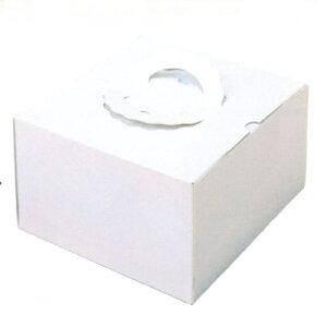 デコ箱 H155 TSD 白ム地7寸用 260×256+20×155mm高(50枚)(トレー無し) ケーキ箱 パッケージ中澤