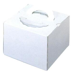 デコ箱 H140 TD 白ム地 4寸用(100枚)(トレー無し) 140×140×140mm高 ケーキ箱 パッケージ中澤