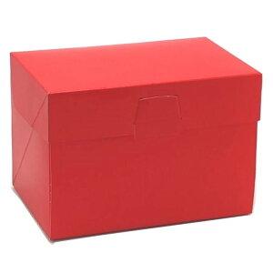 ケーキ箱 ロックBOX105 レッド 7×9(100枚)210×270×105mm ロックボックス パッケージ中澤