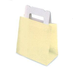 ショート袋 バニラ(小)(800枚)底板紙付き 87×148×150mm ケーキ和菓子用 手提げ袋 パッケージ中澤