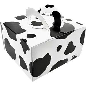 デコ箱 H120 TSD モーモー 4.5寸用(100枚) 162×160(+20)×120mm 牛柄 保冷剤スペース付(トレー無し)パッケージ中澤