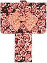 ツモリ子供ゆかた仕立上がり品 女の子サイズ100・110・120・130cm黒地に花柄 ジュニア浴衣 tsumori chisato