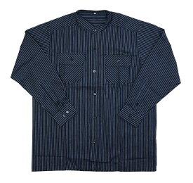 紳士スタンドカラーシャツ M/Lサイズ久留米織 2タイプマオカラー 綿素材 着物襦袢、作務衣下の代わりに メンズ男性服 日本製