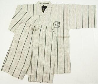 男物甚平龍刺繍入ri形成色M/L/尺寸shijira織綿素材紳士和雑貨