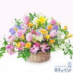 カラフルなアレンジメント花キューピット