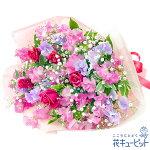 スイートピーの花束花キューピット