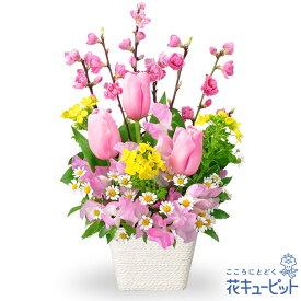 花キューピット【ひな祭り】ひなまつりアレンジメントpn00-511226 ひなまつり お祝い 記念日 卒業 卒園 プレゼント