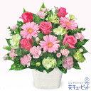花キューピット【誕生日フラワーギフト】ya00-511570ピンクガーベラのアレンジメント【あす楽対応_北海道】【あす楽対…