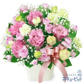 花キューピット【誕生日フラワーギフト】トルコキキョウのリボンアレンジメントya00-511992 花 誕生日 お祝い 記念日 プレゼント