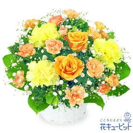 花キューピット【誕生日フラワーギフト】オレンジバラのアレンジメントya00-511999 花 誕生日 お祝い 記念日 プレゼント