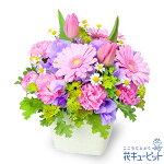 春のガーデンアレンジメント(ピンク)花キューピット