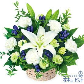 花キューピット【お盆】お供えのアレンジメントmk00-512228 新盆 初盆 供花 お悔やみ お供え