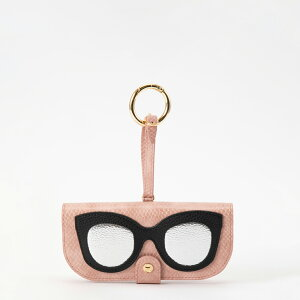 IPHORIA アイフォリア Glasses Case with Bag Holder - Rose Snake With Glasses & Hook in Gold サングラスケースウィズバッグホルダー ローズスネークウィズグラッシーズ&フックインゴールド サングラス サング