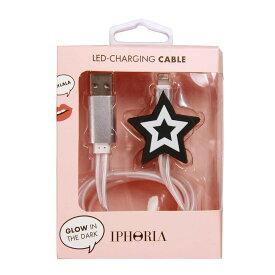 IPHORIA アイフォリア Lighting Cable for Apple iPhone - Black Star ライトニングケーブルブラックスター