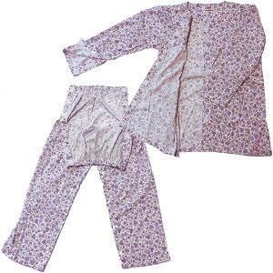 介護用パジャマ マジックテープ女性用お任せS M L LL介護パジャマ 送料無料スムース介護パジャマ寝たきり介護パジャマオールシーズン