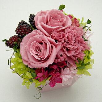 因为是purizabudofurawa花材手制配套元件信心的大轮麝香石竹&玫瑰所以对母亲节礼物,礼物而言正好!! 有没有尘埃的清除盒子的商品名称:radiyu(粉红)(配套元件)