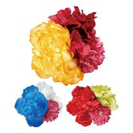 造花ブーケ ASAMX造花1901 【全3色】【フラメンコ用品】コサージュ 髪飾り フローレス 薔薇