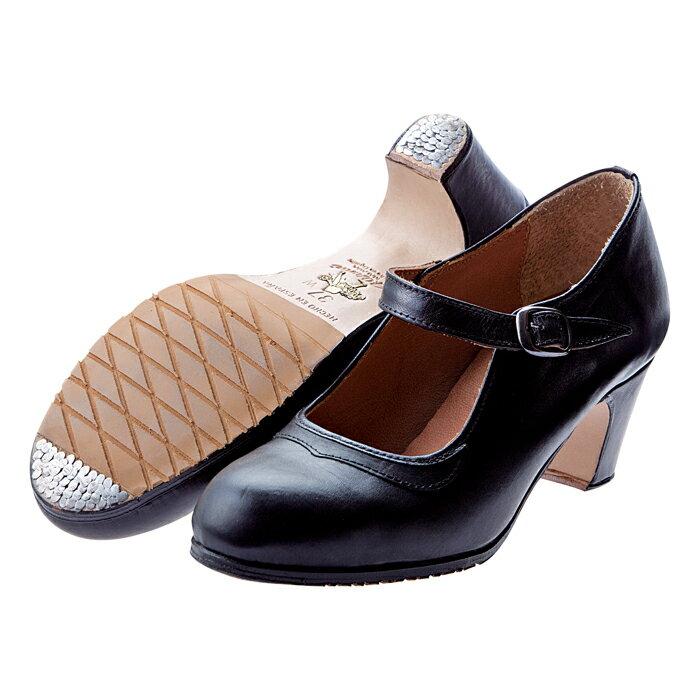 〈オスーナ〉プロ/黒革【幅広(C)】【靴】【フラメンコシューズ】