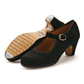 〈オスーナ〉プロ/黒スエード【幅広(C)】【靴】【フラメンコシューズ】サパトス zapatos