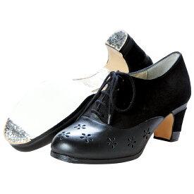 【最終値下げ!】【アウトレット35.0〜38.0C】〈ブレリア・サバテス〉プロ ANISアニス ブラック/スエード×革【幅広(C)】【靴】【フラメンコシューズ】サパトス zapatos
