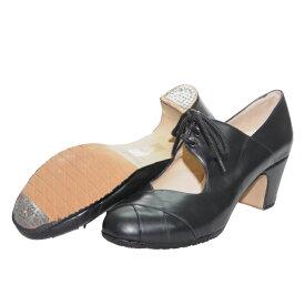 【大きいサイズ】〈メンケス〉紐 黒革/普通幅(B)【靴】【フラメンコシューズ】サパトス zapatos