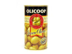 箱買い【グリーンオリーブ(種あり)・24缶】スペイン産★地中海の風と太陽の恵みをたっぷり受けた緑オリーブです。