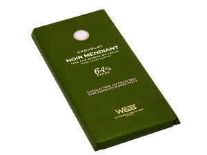 【WEISS】タブレット ノワール・マンディアン 100g (カカオ64%)、フランス産高級チョコレート【ヴェイス社】★新パッケージ★