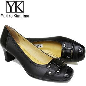 ユキコ キミジマ Yukiko Kimijima パンプス レディース 本革 レザー ヒール 3558キャッシュレス 還元 消費者還元