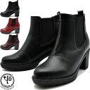 【10%OFFセール】 ヨースケ YOSUKE 厚底ブーツ サイドゴアブーツ チャンキーヒール レディース 全3色 S-LL 2400176