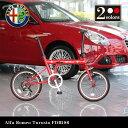 【送料無料】Alfa Romeo Turista FDB186 18インチ コンパクト折りたたみサイクル シマノ6段変速ギア搭載 13.1kg 前後泥除けフェン...