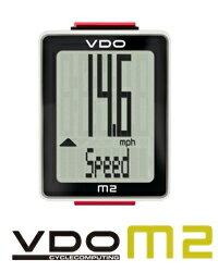 VDO(バーディオー) M2WL ワイヤレス通信 ドイツブランド サイクルコンピューター 大画面表示 スピード+時間+距離 ポルシェやメルセデスのスピードメーターを製造しているメーカーのサイクルコンピューター