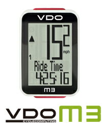 VDO(バーディオー) M3WL デジタルワイヤレス通信 ドイツブランド サイクルコンピューター 大画面表示 スピード+時間+距離+温度計 ポルシェやメルセデスのスピードメーターを製造しているメーカーのサイクルコンピューター